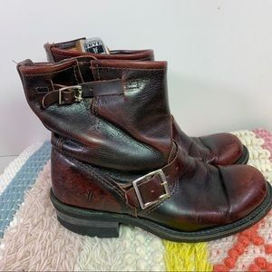 FRYE | Engineer Distressed Shortie Boots Sz. 6.5